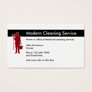 Office And Home Cleaning Business Card