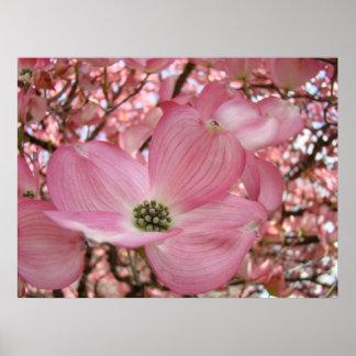 OFFICE ART Pink Dogwood Tree 1 Art Framed Prints