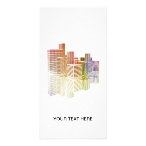 Office buildings in the City Picture Card