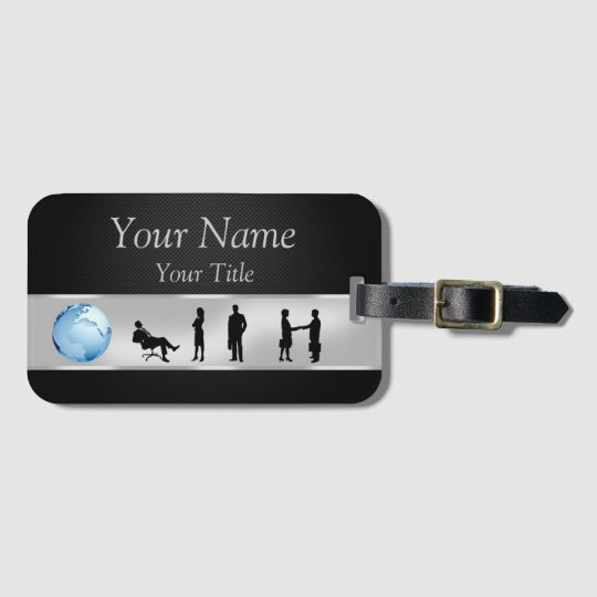 Office Business People World Globe - Luggage Tag
