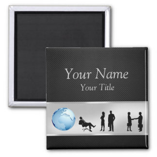 Office Business People World Globe - Magnet