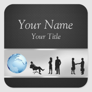 Office Business People World Globe - Sticker