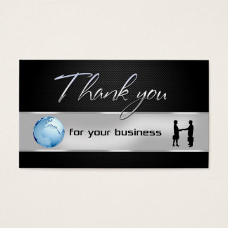 Office Business People World Globe Thank You Card