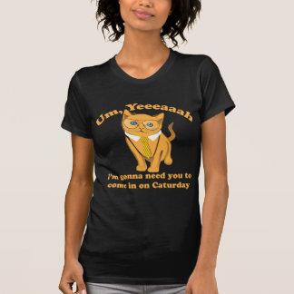 Office Cat Caturday T-Shirt