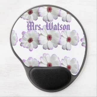 Office Desk Blossoms Floral Destiny'S Destiny Gel Mouse Pad