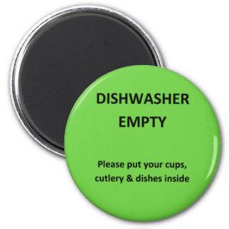 Office Dishwasher Notices 2 Inch Round Magnet