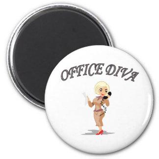 OFFICE DIVA 2 INCH ROUND MAGNET