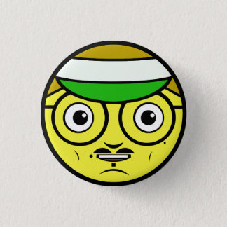Office Face 1 Inch Round Button