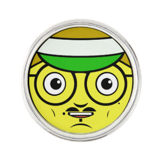 Office Face Lapel Pin