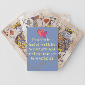 Office Home wedding Personalize Destiny Destiny'S Bicycle Playing Cards