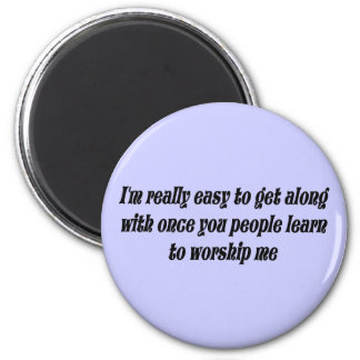 Office Humor 2 Inch Round Magnet