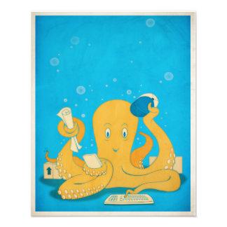 """Office Octopus 16"""" x 20"""" Photo Art"""
