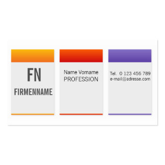 office pack of standard business cards