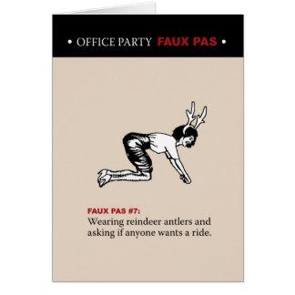 Office Party Faux Pas #7 Card