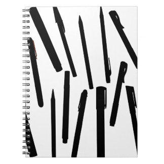 Office Pens Silhouette Notebooks