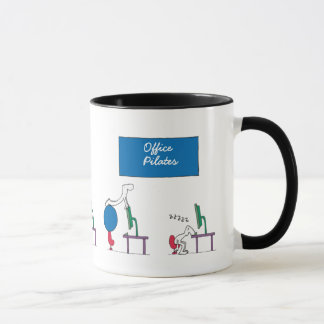 Office Pilates Mug, white Mug