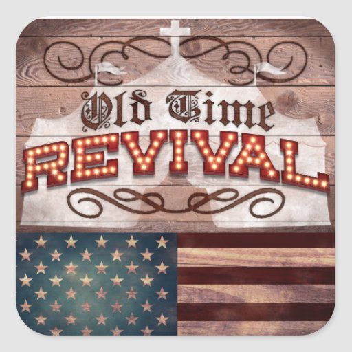 Office Products - Old Time Revival Square Stickers