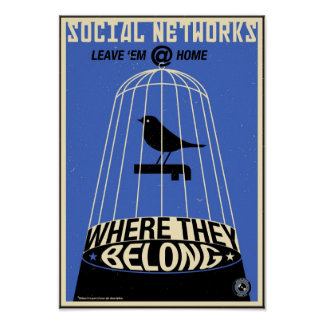 Office Propaganda: Social Network (blue) Poster