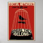 Office Propaganda: Social Network Print