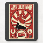 Office Propaganda: Wash your hands Mouse Pad