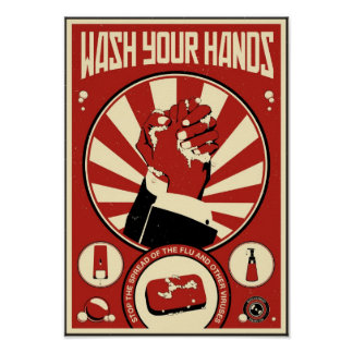 Office Propaganda Wash your hands Poster
