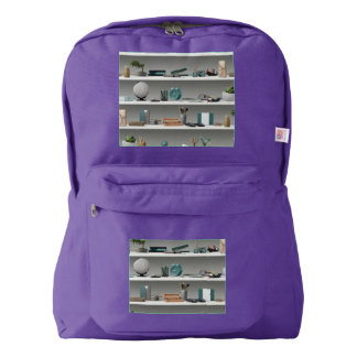 Office Shelves Wellness Teal Backpack
