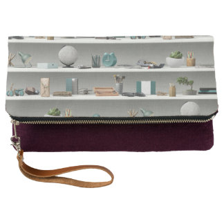 Office Shelves Wellness Teal Clutch