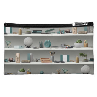 Office Shelves Wellness Teal Cosmetic Bag