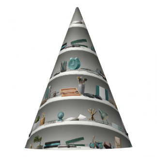 Office Shelves Wellness Teal Party Hat