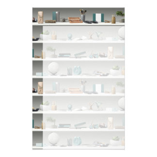 Office Shelves Wellness Teal Stationery