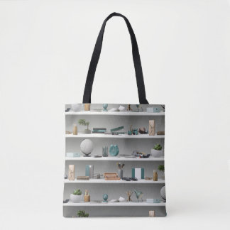 Office Shelves Wellness Teal Tote Bag