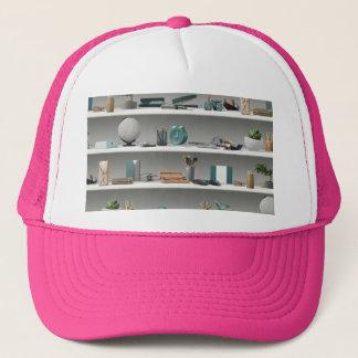 Office Shelves Wellness Teal Trucker Hat