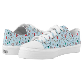 Office Stationery Pattern Low-Top Sneakers