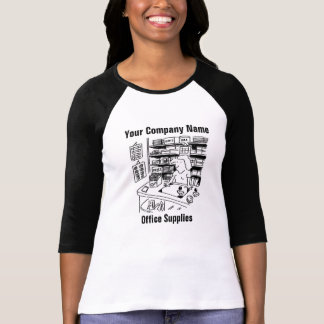 Office Supplies Cartoon T-Shirt