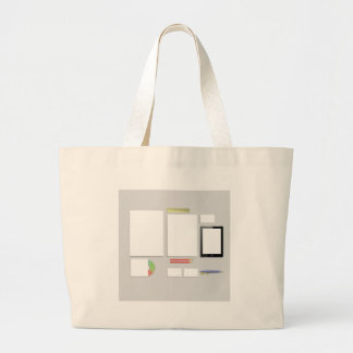 Office Supplies Large Tote Bag