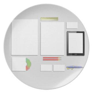 Office Supplies Plate