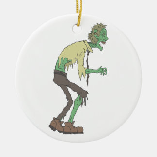 Office Worker Creepy Zombie With Rotting Flesh Out Ceramic Ornament