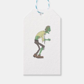 Office Worker Creepy Zombie With Rotting Flesh Out Gift Tags