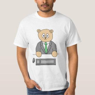 Office Worker in a Green Tie. T-Shirt