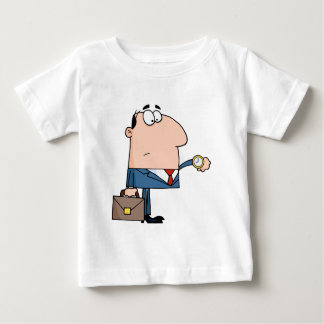 Office Worker Watching The Clock Baby T-Shirt
