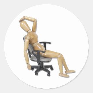 OfficeFrustration Round Sticker