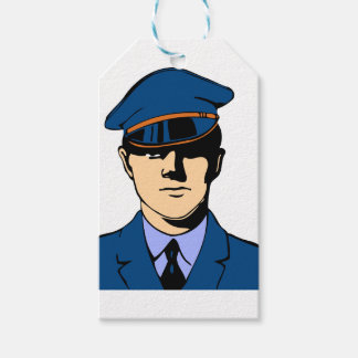 Officer In Uniform Gift Tags