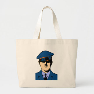 Officer In Uniform Large Tote Bag