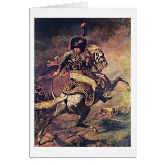 Officer Of Guard Fighters By Theodore Gericault Card