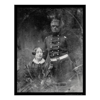 Officer with Woman Daguerreotype 1851 Poster