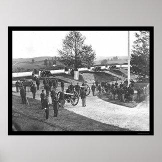 Officers and Men in Fort Stevens, DC 1865 Poster
