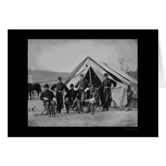 Officers in Gettysburg 1863 Card