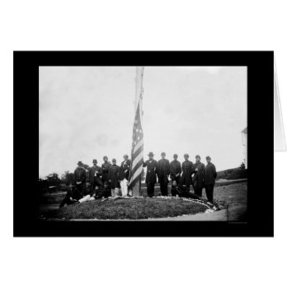 Officers Lowering the Flag Near Georgetown 1865 Greeting Card