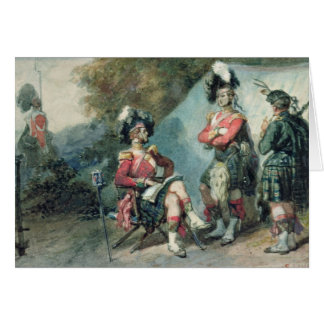 Officers of the 79th Highlanders Card