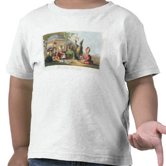 Officers of the Grand Seraglio Regaling, engraved T-shirts